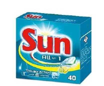 Picture of DETERGENTE SUN PASTILHAS ALL IN ONE LIMAO 40
